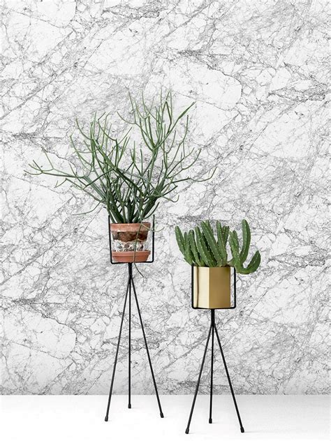 Green Livingroom Ferm Living Webshop Marble Wallpaper