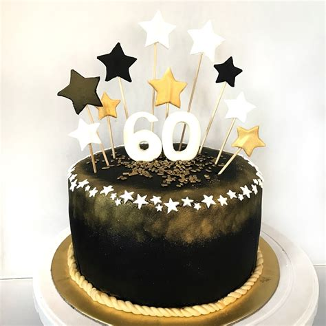 60th Birthday Cake by Black And Gold 60th Birthday Cake Sherbakes