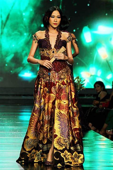gaun batik   model pakaian gaun  kebaya