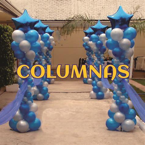 imagenes en columnas latex decoraci 243 n con globos columnas con remate de globo