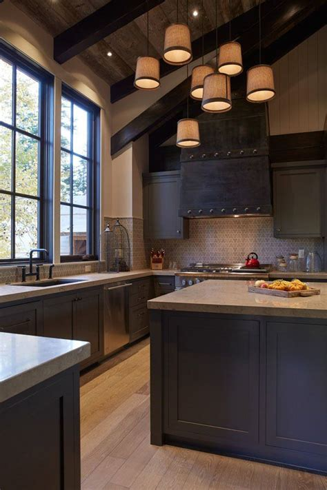 Rustic Modern Kitchen Cabinets 25 Best Ideas About Modern Rustic Kitchens On Pinterest Exposed Brick Kitchen Brick Wall