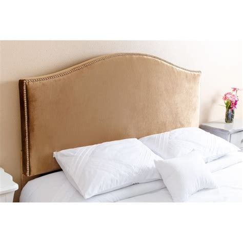 gold headboard abbyson living kenton queen full nail head trim headboard