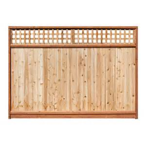 8 Ft Trellis Panels Shop 6 Ft X 8 Ft Western Red Cedar Lattice Top Wood Fence