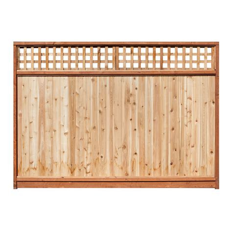 8 Ft Trellis Panels Shop 6 Ft X 8 Ft Western Cedar Lattice Top Wood Fence