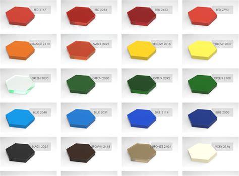acrylic colors acrylic plexiglass color chart