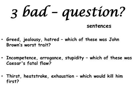 Bad Or Question Alan Peat Sentences 2