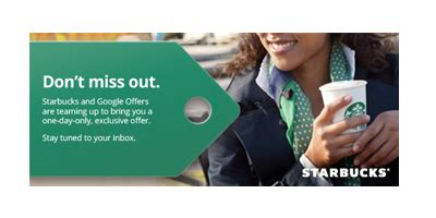 Gift Cards Half Off - coming up half off starbucks gift cards through google offers