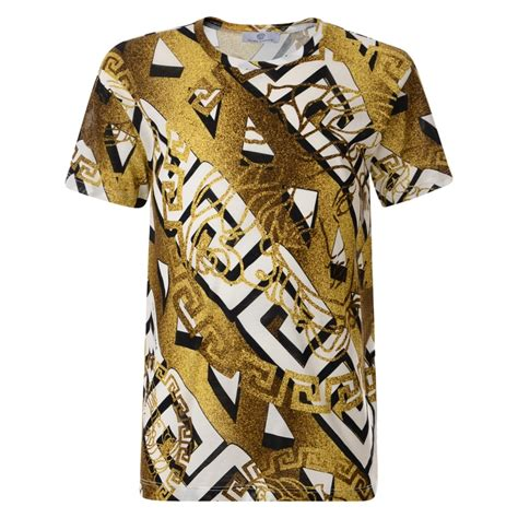 versace pattern t shirt young versace boys gold t shirt with baroque print