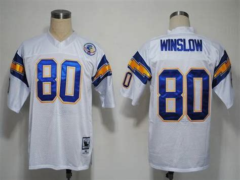 white kellen winslow 80 jersey p 1479 mitchell and ness 1984 chargers 80 kellen winslow white