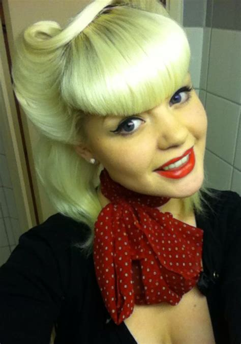 rockabilly hairstyles bangs calamityrachx victory rolls victory rolls bangs classic
