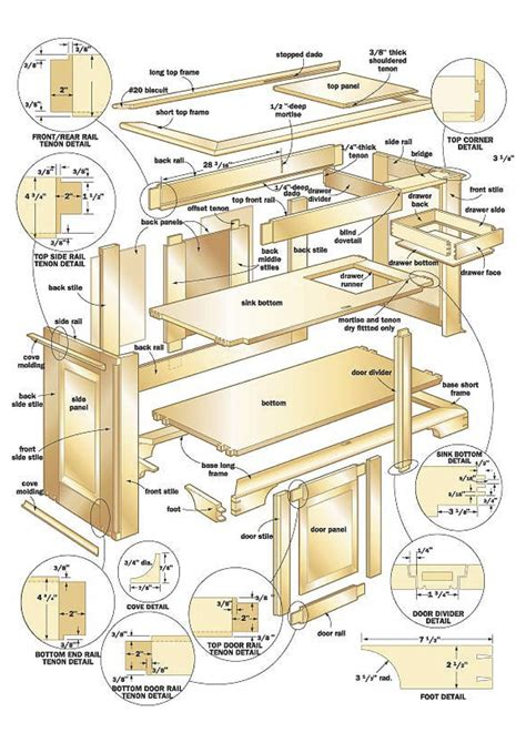 cherry dry sink woodworking plans woodshop plans