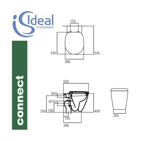 vaso wc ideal standard ideal standard vaso connect filo parete