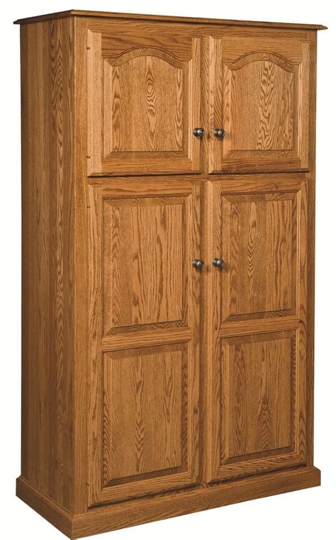 Kitchen Storage Cabinets Amish Country Traditional Kitchen Pantry Storage Cupboard Cabinet Roll Shelf Oak Ebay