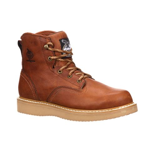 mens 6 inch wedge work boots