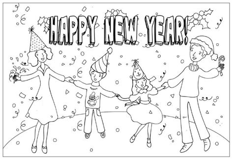 happy new year colouring pages happy new year celebration coloring pages cool