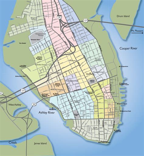 charleston sc map charleston downtown peninsula homes townhouses condo s for sale