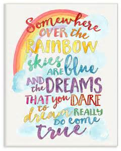 Area Lighting Research Quot Somewhere Over The Rainbow With Rainbow Quot Wall Plaque Art