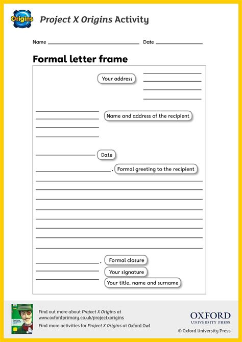 Eyfs Ks1 Ks2 Letter Writing Teachit Primary Letter To Template Eyfs