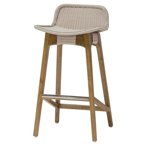 Palecek Chair Palecek Vista Coastal Beach Beige Teak Counter Stool