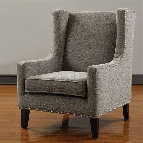 living room wingback chairs christopher home malone beige club chair interior