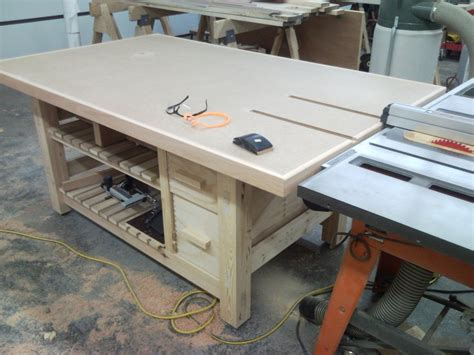 tablesaw outfeed table by brett gallmeyer lumberjocks
