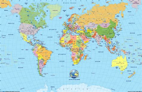 world map of cities and countries world map mappery