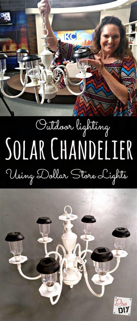 diy solar lighting how to make garden lighting with a solar chandelier