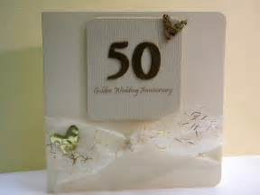 50th wedding anniversary card the handmade card