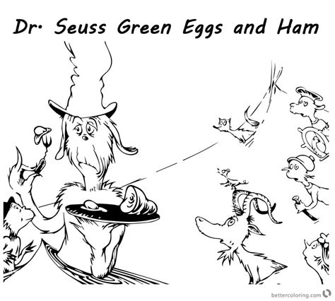 dr seuss coloring page green eggs and ham green eggs and ham coloring pages free bltidm