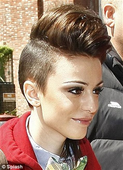 images of hair shaved close in the back cher lloyd shows off her new shaved hairstyle as she