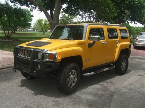 purchase used 2006 yellow hummer h3 luxury edition sport utility in pompano beach florida