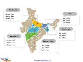 India Map Ppt Template by India Map Blank Templates Free Powerpoint Templates