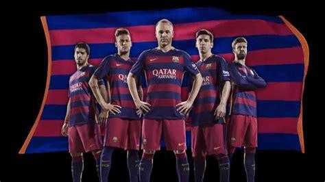 Jersey Original Fc Barcelona Home Season 20152017 nike and fc barcelona unveil bold new home and away kits