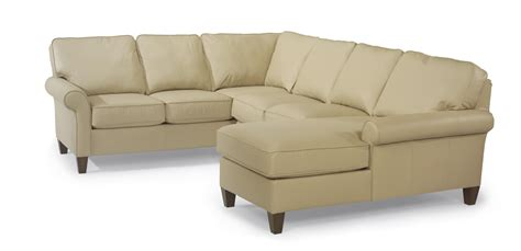 flex steel sectional flexsteel westside casual corner sectional leather