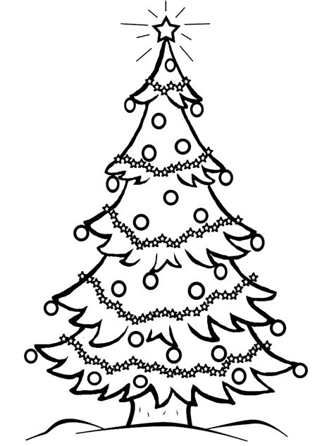 imagenes de un arbol de navidad arbol de navidad para colorear