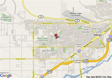 billings montana on map of usa map of residence inn billings billings