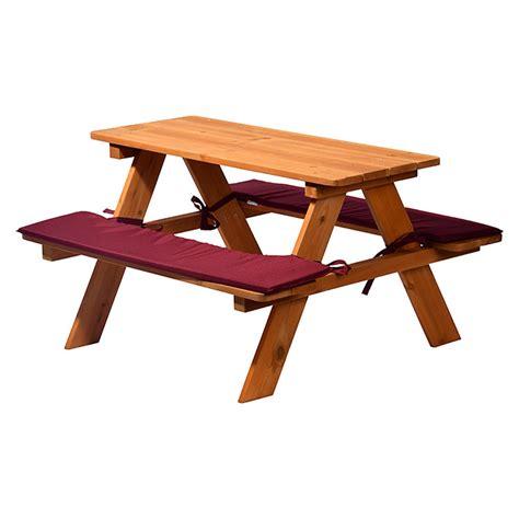 Holzbank Mit Tisch by Dobar Holzbank Mit Tisch 89 X 79 X 50 Cm Kiefer Bauhaus