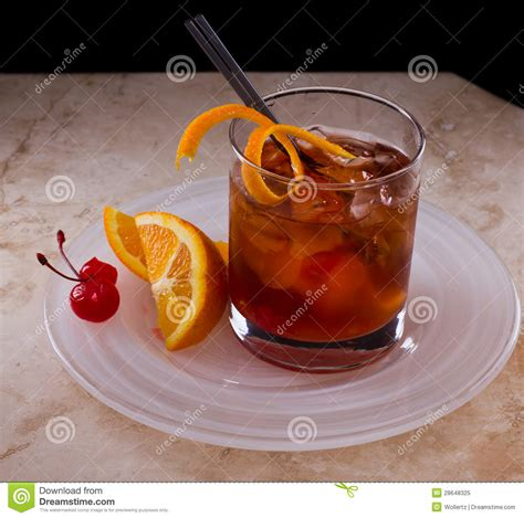 old fashioned cocktail royalty free stock photo image