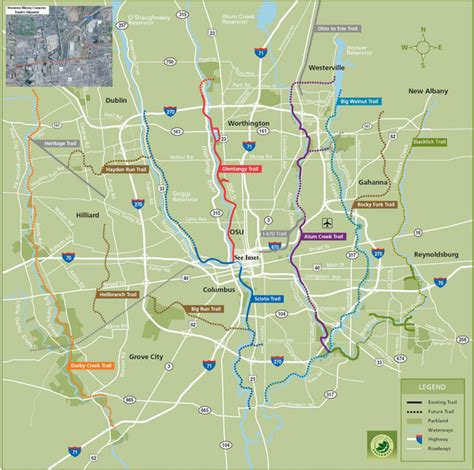map of columbus columbus bike map columbus oh usa mappery