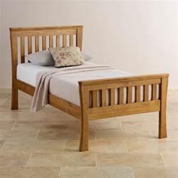 Wooden Bed Frames Single Uk Orrick Single Bed Solid Oak Oak Furniture Land