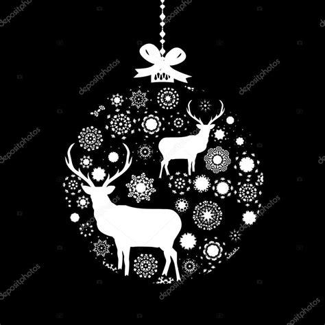 imagenes en blanco y negro navidad bola de navidad blanco y negro eps 8 vector de stock