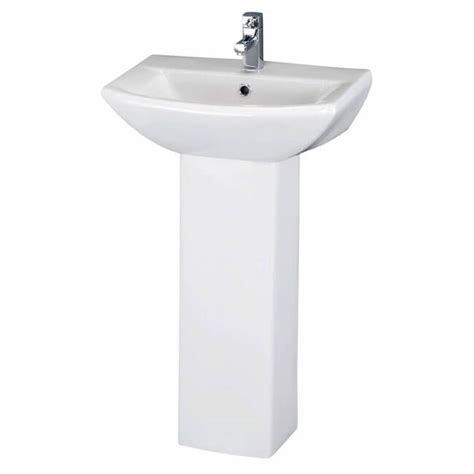 premier asselby 1 tap cloakroom basin and pedestal