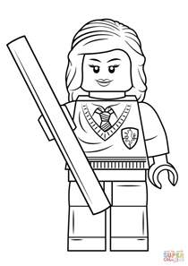 Harry Potter Lego Coloring Pages lego hermione granger coloring page free printable