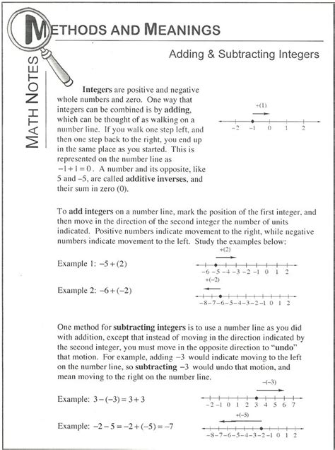 10 best adding and subtracting integers images on