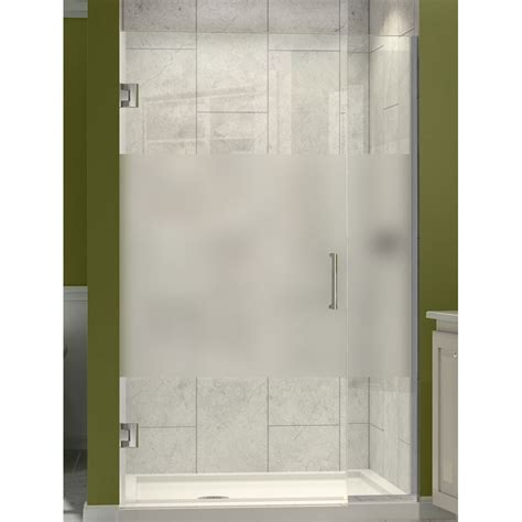 Half Glass Shower Doors Dreamline Shdr 243257210 Hfr Unidoor Plus 32 1 2 To 33 W X 72 H Hinged Shower Door With Half