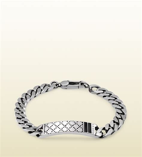 Gucci Diamantissima Bracelet In Sterling Silver in Silver for Men   Lyst