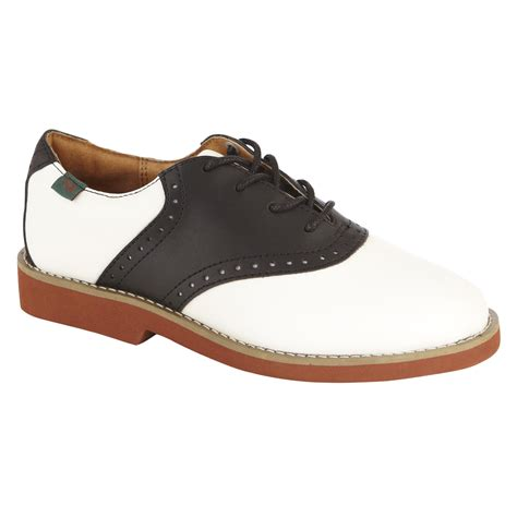 saddle shoes school issue 174 youth saddle shoe class black white