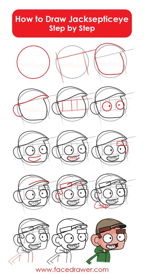 how to do doodle step by step jacksepticeye style learn how to draw easy step