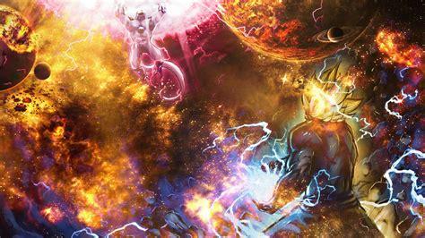 dragon ball epic wallpaper goku vs frieza super epic space wallpaper merge my easy