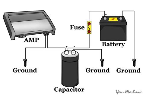 capacitor hook up car capacitor wiring diagram wiring diagram and schematic diagram images